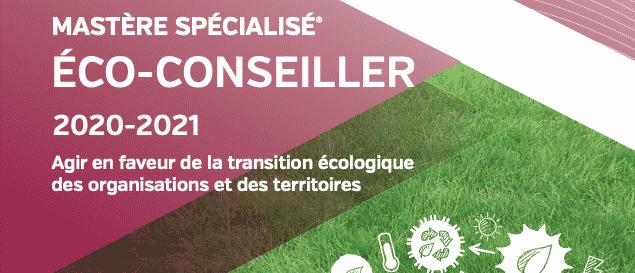 La nouvelle plaquette du Mastère Spécialisé® éco-conseiller est en ligne!