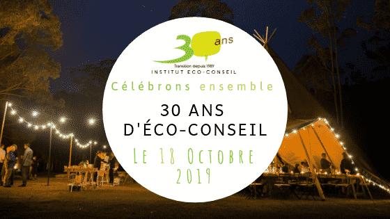 ECO-Conseil Namur fête ses 30 ans: on y était!