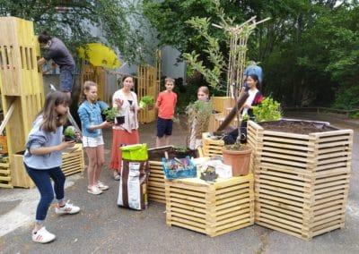 Jardin Oasis dans une cour d'école
