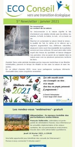 5ème newsletter d'ECO-Conseil