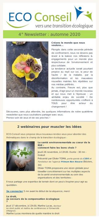 4ème Newsletter_ECO-Conseil