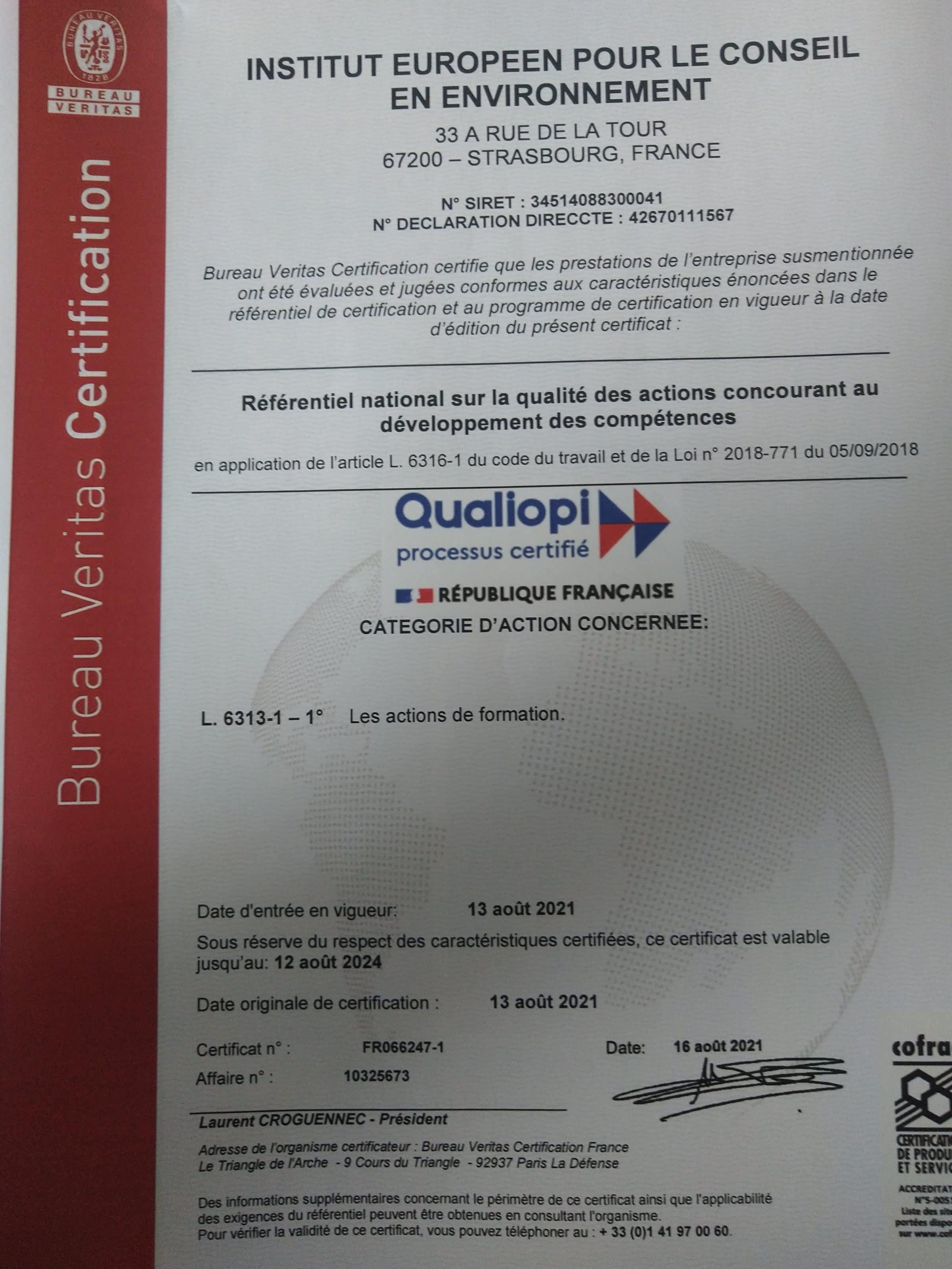 Certification-13 août 20211